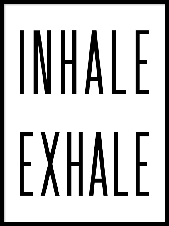 Inhale Exhale No6 Wall Art Print - PRRRINT