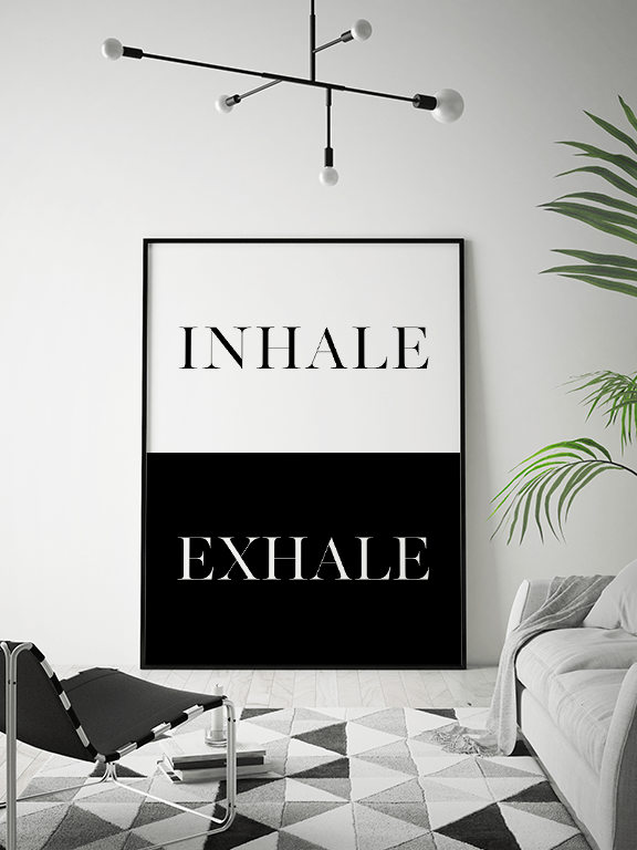 Inhale Exhale No7 Wall Art Print - PRRRINT