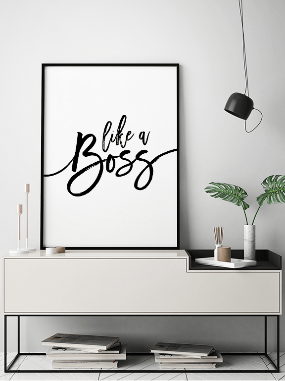 Like a Boss Quote Wall Art - PRRRINT