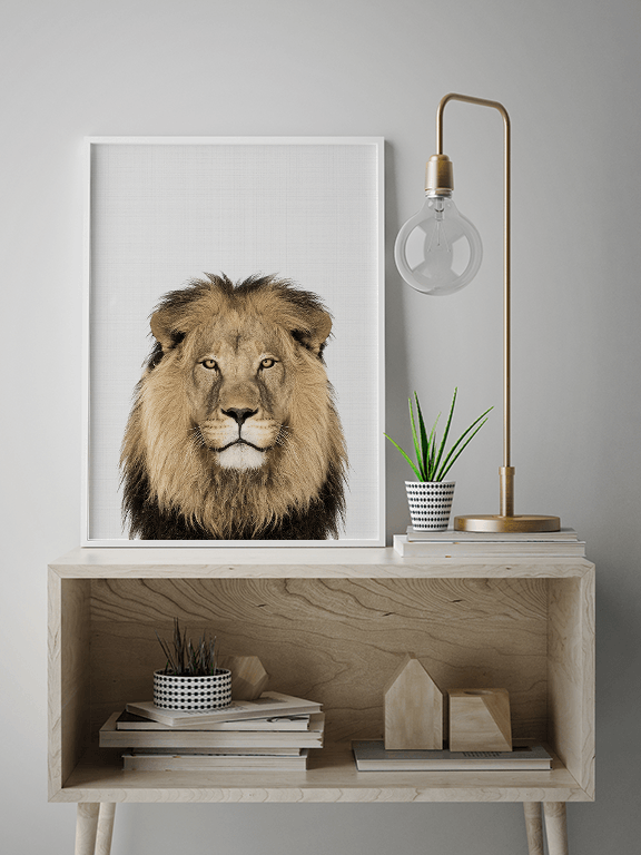 Lion Wall Art Print - PRRRINT