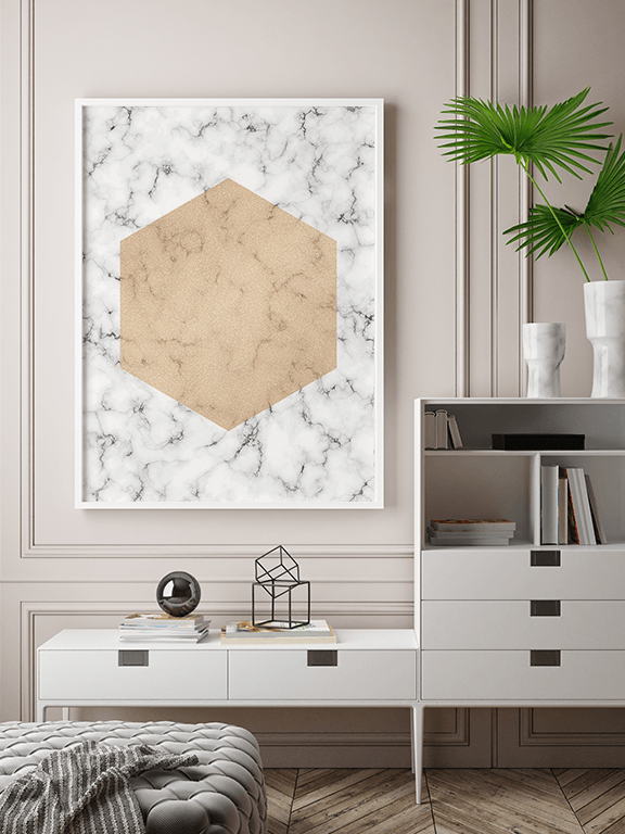 Marble Abstract Shape Wall Art Print - PRRRINT