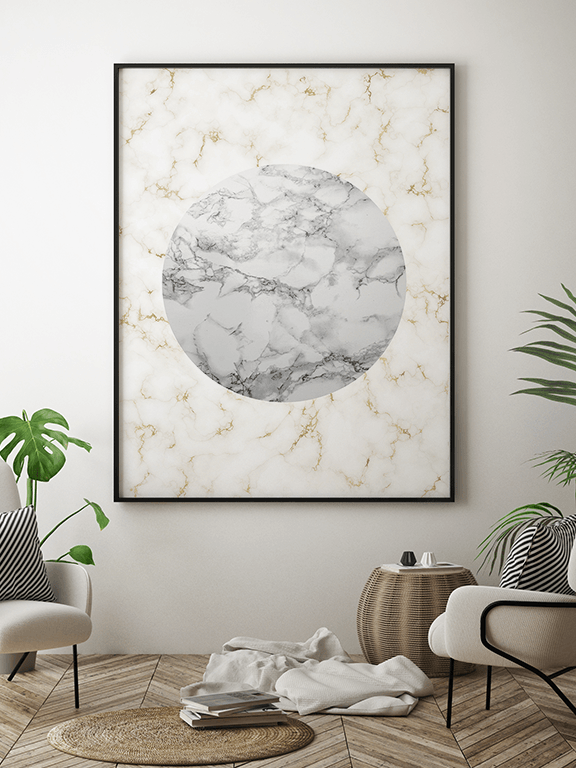 Marble Abstract Wall Art Print - PRRRINT
