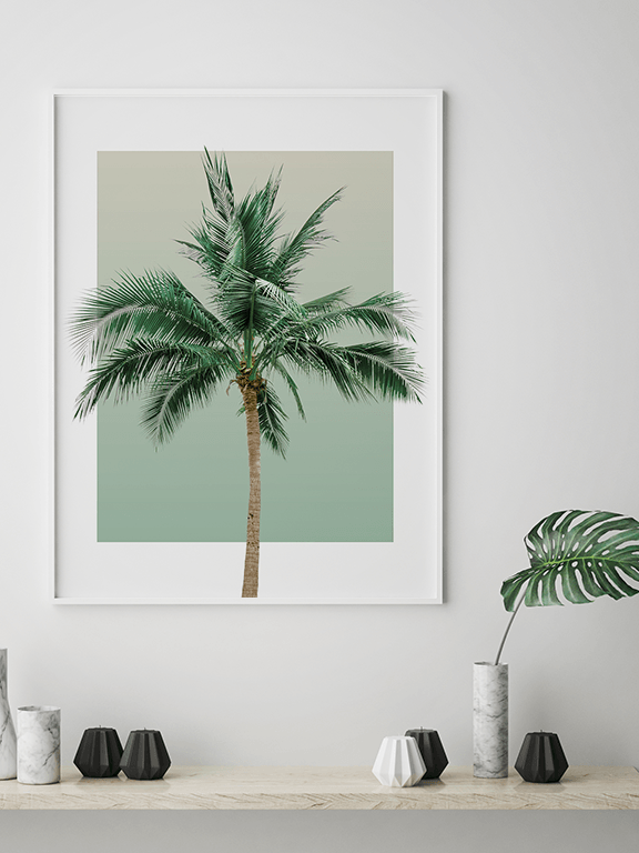Olive Palm Tree Wall Art Print - PRRRINT