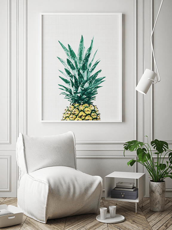 Pineapple No1 Wall Art Print - PRRRINT