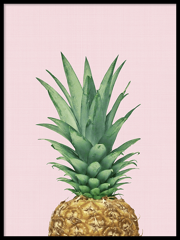 Pineapple Pink Wall Art Print - PRRRINT