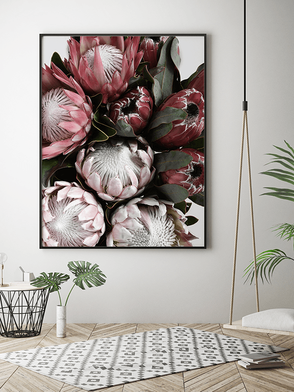 Protea Flowers Wall Art Print - PRRRINT