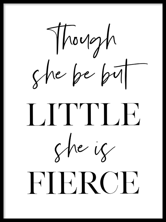 She is Fierce No2 Print - PRRRINT