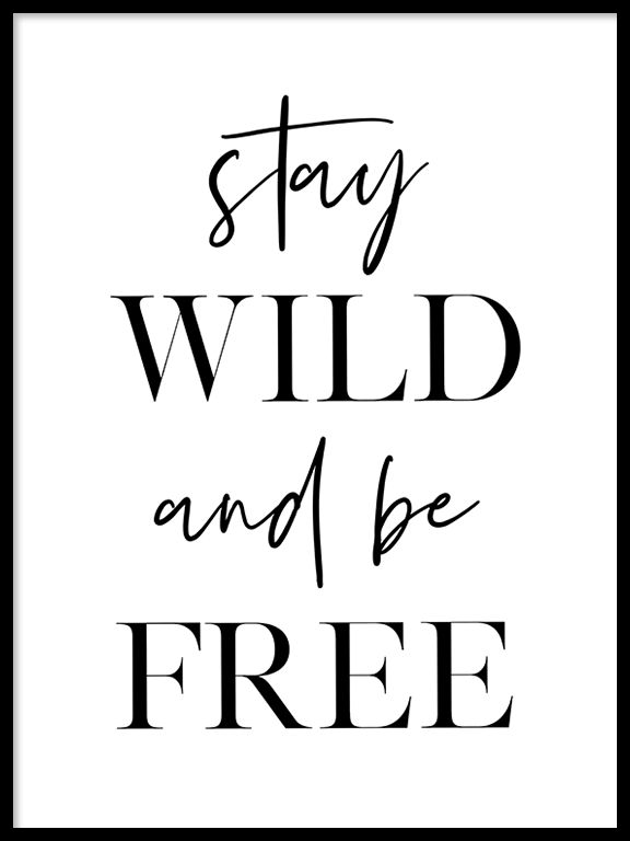 Stay Wild and Be Free Wall Art - PRRRINT