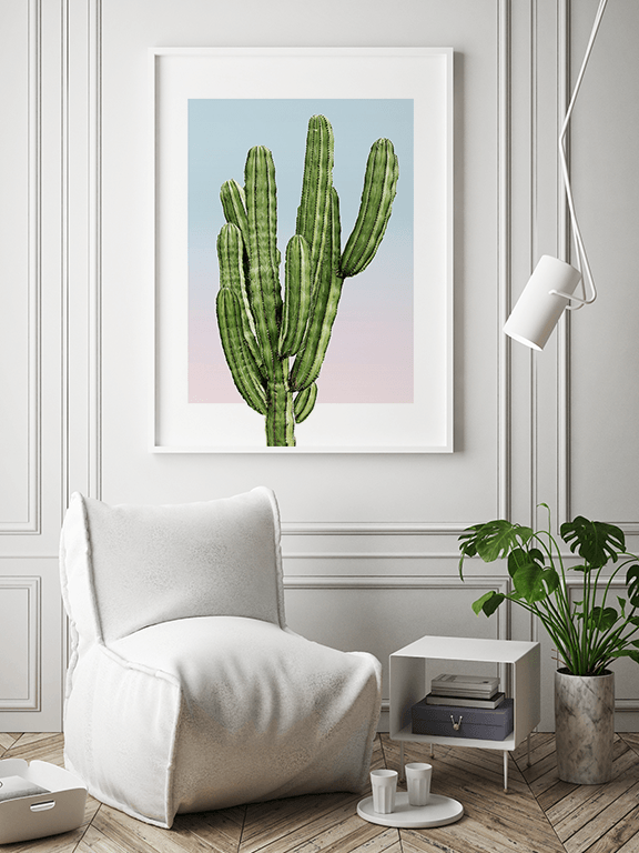 Sunset Cacti No2 Wall Art Print - PRRRINT
