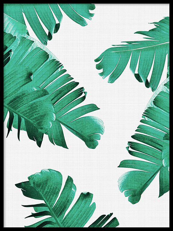 Tropical Leaves Wall Art Print - PRRRINT