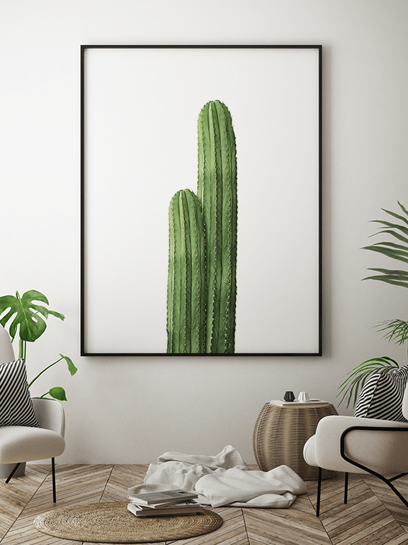 Two Cactuses Wall Art - PRRRINT