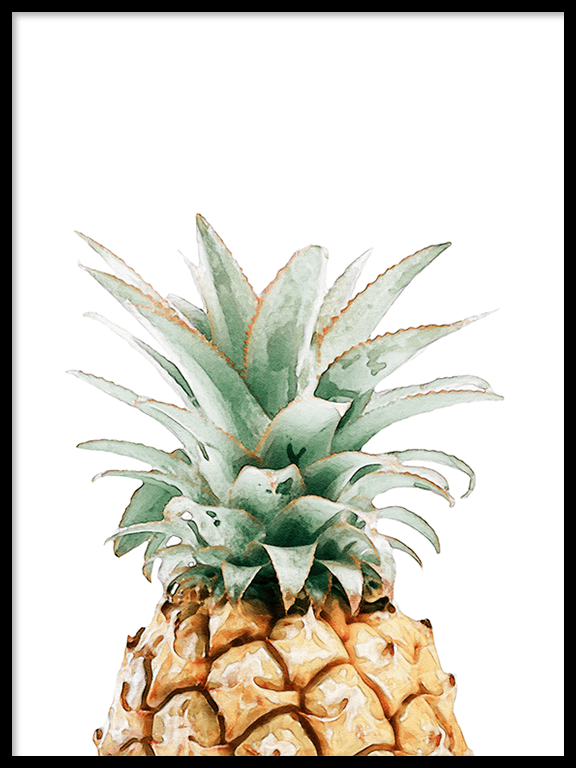 Watercolor Pineapple Wall Art Print - PRRRINT