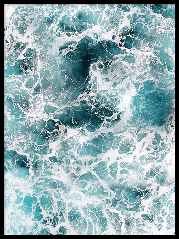 Wavy Ocean No2 Wall Art Print - PRRRINT
