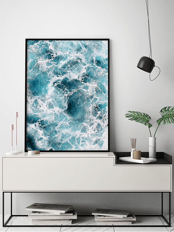 Wavy Ocean Wall Art Print - PRRRINT