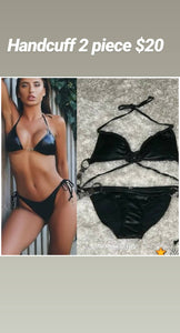 Cuff Me leather swim suit