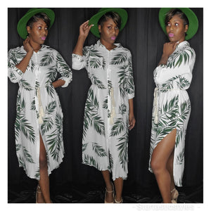 GREENERY ROPE TIE DRESS