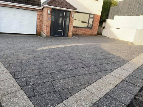 Plymouth Block Paving Argent Light and dark installation