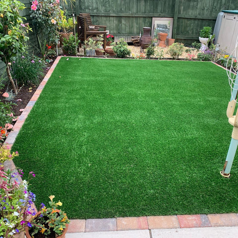 Plymouth Block Paving Artificial Grass installation
