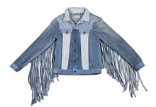 Load image into Gallery viewer, Indigo Fringe Jacket
