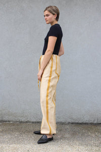 Yellow Exposed Seam Pants