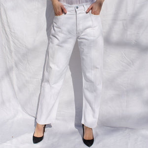 White Match Boyfriend Jean