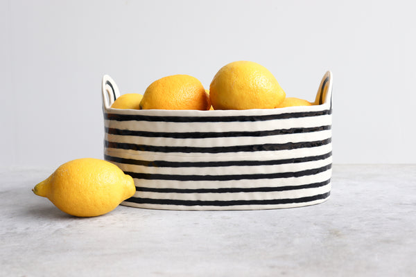 Pinched Basket - Stripes
