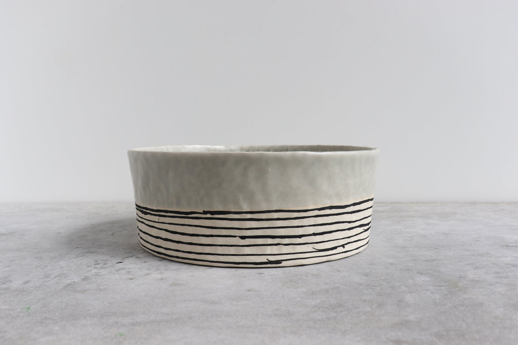 Pinched Serving Bowl - Seafoam