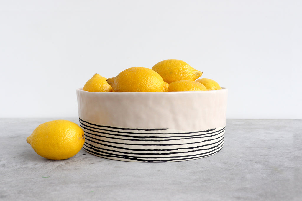 Pinched Serving Bowl - Summer Sweet
