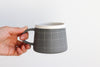 Grid Patterned Mug - Charcoal