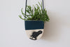 Half Moon Hanging Planter - Deep Ocean