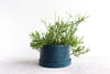 Round Pinched Planter with Plate - Deep Ocean