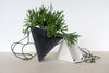 Triangle Hanging Planter - White