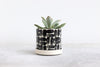 Round Pinched Planter with Plate - Brick
