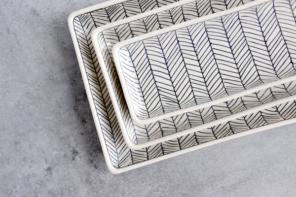 Herringbone Tray