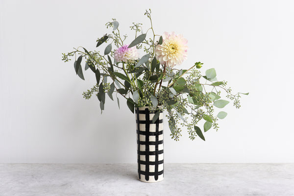 Pinched Tall Vase - Grid
