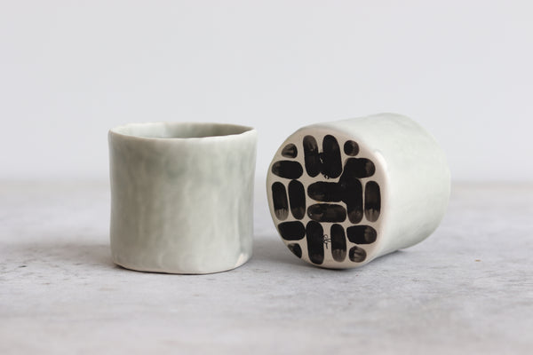 Pinched Whiskey Cup - Sage Green