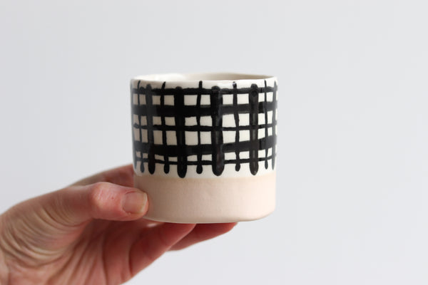 Plaid Whiskey Cup