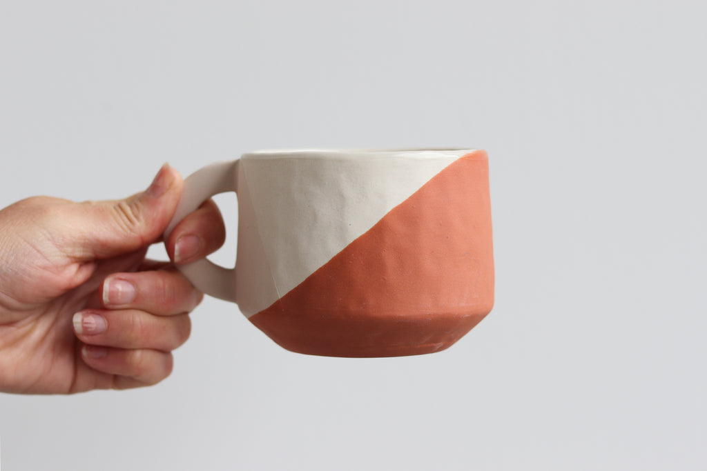 Ebb & Flow Two Toned Mug - Summer Sweet Handle