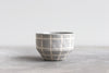 Matte Grid Bowl - Fog