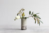 Pinched Striped Vase - Sage Green