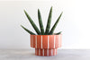 Pinstripe Planter - Rust