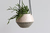Pinched Hanging Planter with Stripes- Summer Sweet