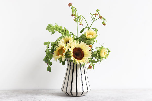 Ebb & Flow Vase - Stipes