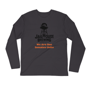 Customize-able Jailhouse Logo Long Sleeve Fitted Crew