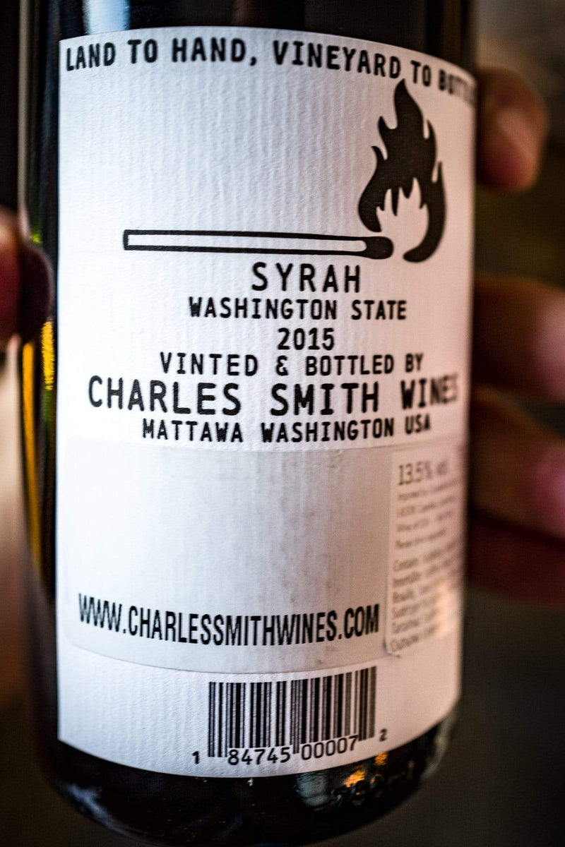 Charles Smith Rødvin Charles Smith Boom Boom Syrah 2015