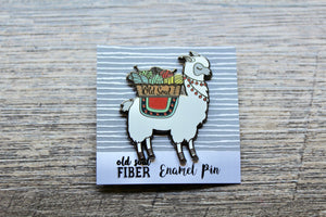 Alpaca My Basket Enamel Pin