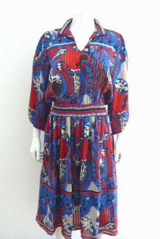 Diane Freis Red,White, and Blue Dress Set