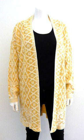 Ivory and Gold Lurex Cardigan