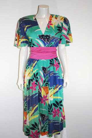 Fannye's 80s Jungle Print Dress