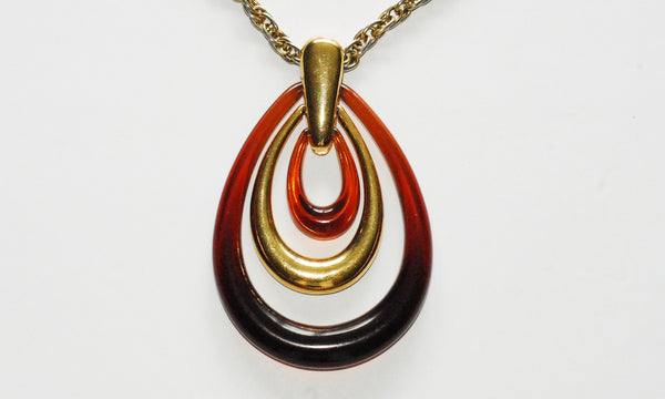Trifari Amber Modernist Necklace